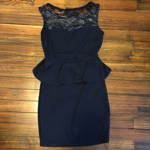 Women's  peplum dress. Size small.